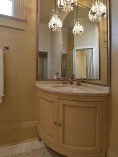 Mirror In Bathroom Corner