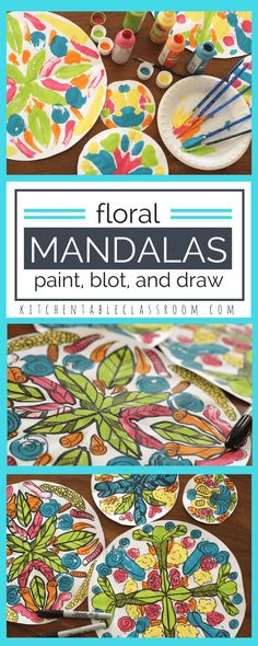 Floral Mandalas- the Paint and Fold Method - The Kitchen Table Classroom