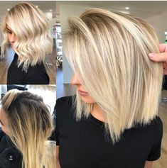 Golden Blonde Balayage for Straight Hair - Honey Blonde Hair Inspiration - The Trending Hairstyle Blonde Foils, Blonde Balayage, Blonde Hair No Highlights, Blonde Hair Colors, Full Head Highlights, Icy Blonde, Pretty Hairstyles, Bob Hairstyles, Butter Blonde Hair
