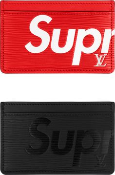 f6629a9486b5 Preowned Louis Vuitton X Supreme Red Chain Wallet Epi Leather New ...
