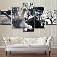 Bruce Lee 5 Piece Canvas