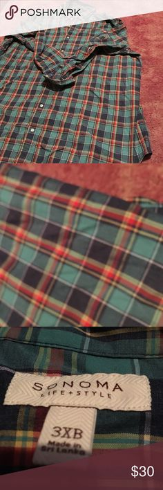 Plaid Flannel Shirt Brand new. Size 3XL. Brand is Sonoma. Super warm and comfortable! Sonoma Tops Button Down Shirts
