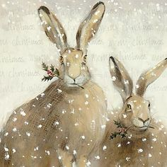 Christmas Hares | Content in a Cottage