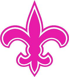 New Orleans Saints Football Decal ANY color Sticker Drew Brees Breast Cancer in Collectibles | eBay