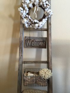 My goodness, they're my weakness. We are the type of household that has to have quilts on us any time we lay on the cou. Wooden Ladder Decor, Rustic Ladder, Wooden Blanket Ladder, Vintage Ladder, Home Living Room, Living Room Decor, Bedroom Decor, Country Farmhouse Decor, Rustic Decor