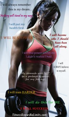 I will ALWAYS remember this is my dream- FitnessKnowsNoLimits