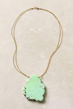 turquoise necklace, Anthropologie