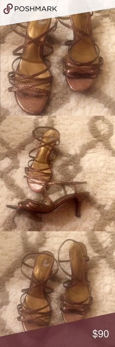 Lulu Townsend Bronze Strappy Heels! 👠 👠 New! Lulu Townsend Strappy Heels! Size 6, never worn! Bronze, sexy heels. Perfect for weddings, parties, dancing! Enjoy!! Lulu Townsend Shoes
