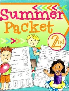 Summer Packet, 2nd Grade ($3) 15 pages of fun, parent friendly practice to help students avoid the summer slump