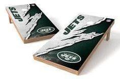 New York Jets Single Cornhole Board - Ripped
