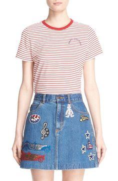 MARC JACOBS Stripe Logo Cotton Tee. #marcjacobs #cloth #