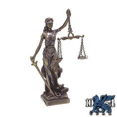 9194 Small Lady Justice Statue is cast in high quality resin in faux bronze finish.  5″