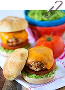 Turkey Chorizo Burgers with Guacamole » Table for Two