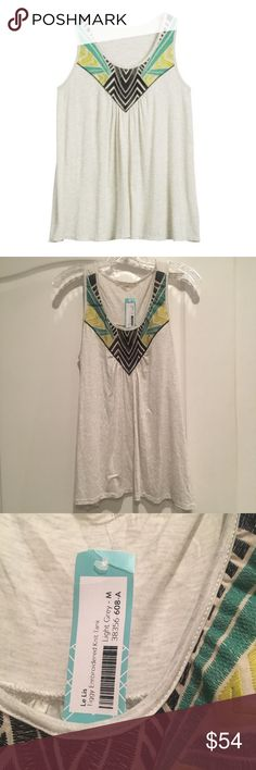 NWT Stitch Fix Le Lis Tiggy Embroidered Tank Brand new with Tags size M Le Lis Tops Tank Tops