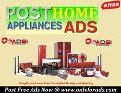 #PostFreeAds of #Electronics #HomeAppliances for Buy/Sell at Best #Deals. Post Now @ www.onlyforads.com