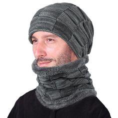 10537bd3662 Seioum 2018 Winter Beanie Hat Scarf skullies beanies Soft Skull Warm Baggy  Cap Mask Gorros Winter Hats For Men Women Knitted Hat