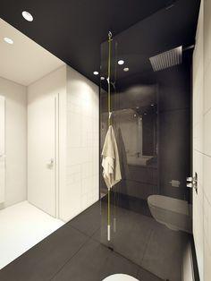 dusche aus glas mit satiniertem glasmuster und verk rztem seitenteil zum aufsatz auf einem. Black Bedroom Furniture Sets. Home Design Ideas