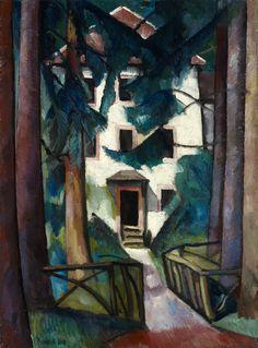 Alexander Kanoldt (German, 1881-1939), Villa Edmond About, Zabern (Hauseingang), 1917. Oil on canvas, 48.5 x 35.5 cm.