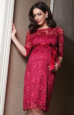 Amelia Maternity Dress Bright Rose by Tiffany Rose