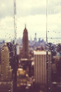 Rain, New York City, United States.