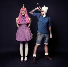 Princess Bubblegum cosplay   Adventure Time   PF: walnutbirdie, Finn: Daniel Stigefelt
