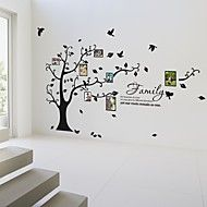 fotoram vägg klistermärken blommor livet träd botaniska tvättbara väggdekaler