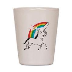 Unicorn meme Shot Glass