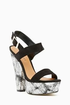 Shoe Cult Dusted Platform in Silver  elfsacks