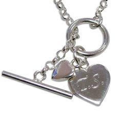 Hearts T-Bar Bracelet -  £24.99 Free UK Delivery