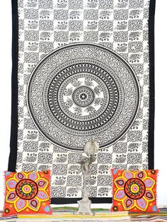 Indian Bed spread Hippie Mandala Tapestry Wall by Ayatcreation, $16.99