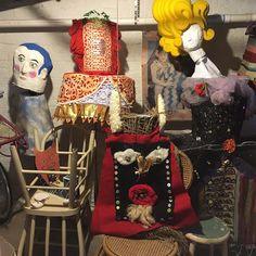 Poetry and puppets at Lana's studio