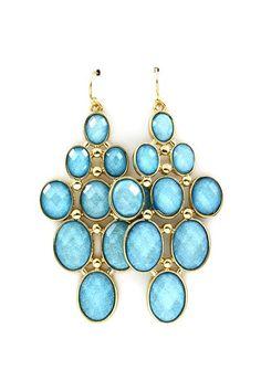 cute, blue earrings
