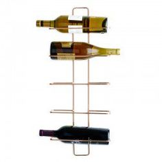 Lincoln Copper Wall Wine Rack - wall-mounted bottle store