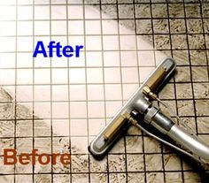 Get at the tricky grout with this simple recipe. Cleaning Grout Between Tiles - Floors, Bathroom, Shower, Kitchen