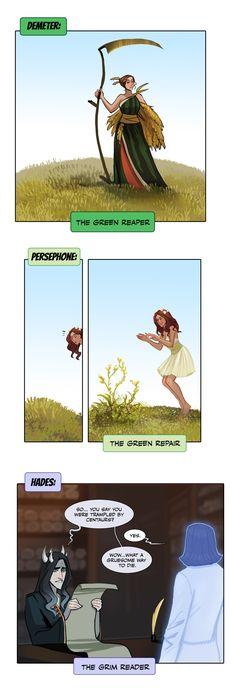 green green grim xD by sigeel on DeviantArt <br> meme funny Greek Mythology Humor, Greek And Roman Mythology, Percy Jackson Memes, Percy Jackson Fandom, Cute Comics, Funny Comics, Horror Comics, Greek Memes, Greek Gods And Goddesses