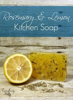 Rosemary and lemon kitchen soap.  Eliminate odors and moisturize skin naturally.