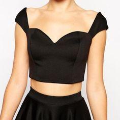 ASOS Crop Top Off The Shoulder Sweetheart neckline. Never worn. ASOS Tops Crop Tops