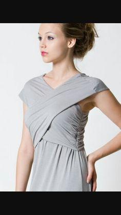7324ef074ee Dote - Smoke Maxi Nursing Maternity Dress in Light grey Breastfeeding Dress