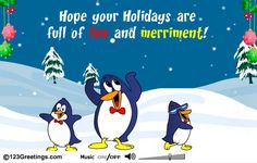 Spread the #holidaycheer all around with this fun #seasonsgreetings. #HappyHolidays #free #cards #greetings #wishes.