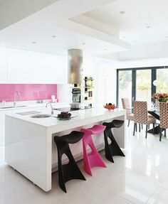 Who says you can't have pink in the kitchen.  After all... it IS the color of icing, milkshakes, sprinkles...