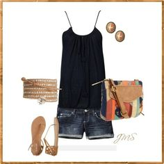 Polyvore Summer Outfits | Summer Casual by Alina123