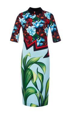 Broken Bloom China Collar Dress by Clover Canyon for Preorder on Moda Operandi