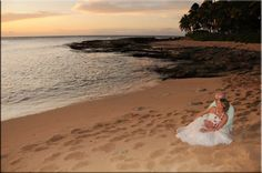 On the beach at Disney's Aulani Resort!  Perfect spot for a Destination Wedding or Honeymoon.  Contact me for more information patricia@magicalmemoriestravel.com
