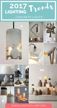The 2017 Lighting Trends DIY Crafters Will Love. Read all at www. Concrete Light, Concrete Lamp, Concrete Crafts, Concrete Projects, Pinterest Room Decor, Lamp Design, Chair Design, Design Design, Furniture Design
