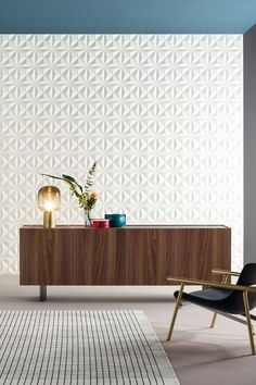 The distinguishing feature of OUTLINE is wood, more specifically the warm canaletto walnut finish used for the entire frame. Discover our new sideboard designed by Mario Mazzer for Bonaldo. Modern Drawers, Contemporary Side Tables, Living Styles, Walnut Finish, Interior Design, Design Interiors, Sideboard, Living Room Furniture, Armchair