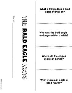 The Bald Eagle {Non-Fiction} Close Reading & Text Dependen Text Dependent Questions, Close Reading, First Page, Made Goods, Nonfiction, Bald Eagle, Worksheets, Facts, Birdwatching