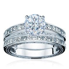"""When you say """"I love you"""" forever, say with endless beauty! #weddingbands"""