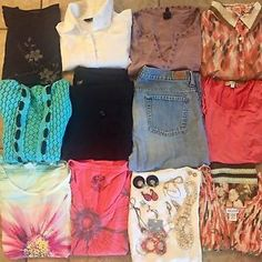 22 Pc. Lot Women's Sz Large Clothes w/ Jewelry; Express, Gap, Boutique Items-WOW    eBay