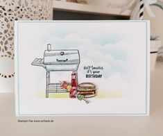 stampin 2020 sale a bration sab spring catalog spring catalog set: outdoor . Cricut Cards, Stampin Up Cards, Outdoor Barbeque, Barbecue, Birthday Bbq, Diy Valentines Cards, Cute Cards, Men's Cards, Diy Cards