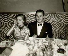 Lili Damita & Errol Flynn at the El Morocco, New York City, 1930s. Photograph by Jerome Zerbe.